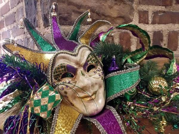 Photograph - Mardi Gras Mask by Pamela Williams