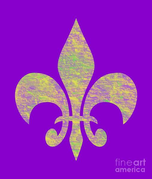 Digital Art - Mardi Gras Party Fleur De Lis by Annette M Stevenson