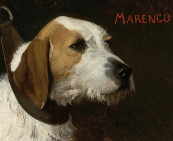 Elegant Dog Painting - Marengo, 19th Century by Jean-Leon Gerome