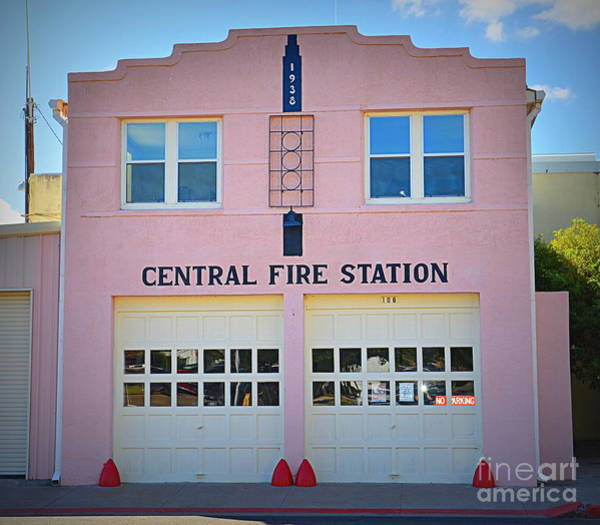 Central Fire Station Photograph - Marfa Central Fire by Tru Waters