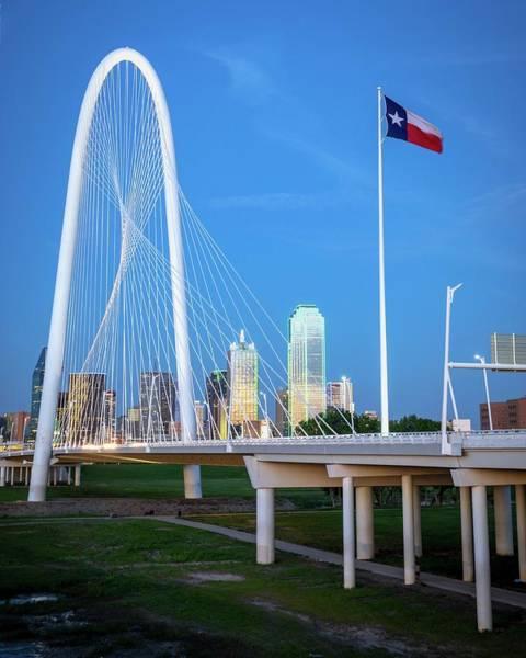Photograph - Margaret Hunt Hill Bridge In Dallas  by Harriet Feagin