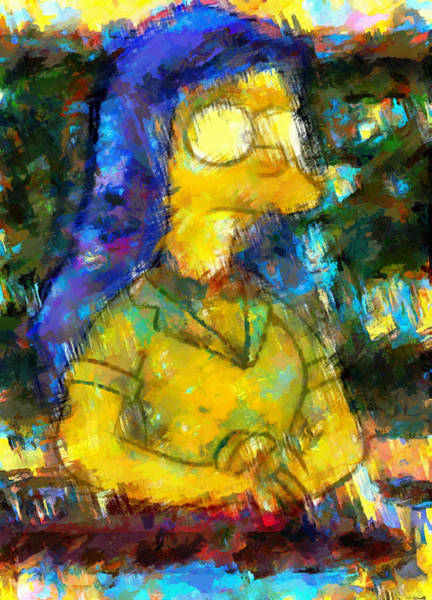 Digital Art - Marge Bouvier In Class by Mario Carini