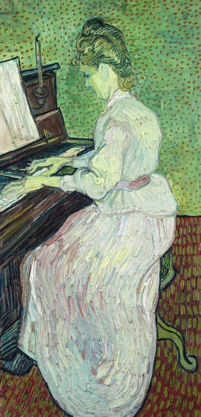 Wall Art - Painting - Marguerite Gachet At The Piano, 1890 by Vincent Willem van Gogh