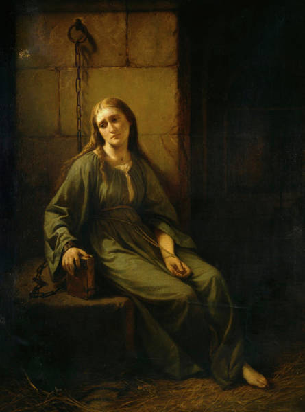 Wall Art - Painting - Marguerite In Prison, 1867 by Johann Grund