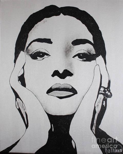 Calla Mixed Media - Maria Callas Diamants by Kathleen Artist PRO