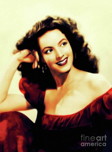 Wall Art - Painting - Maria Felix, Vintage Actress by John Springfield