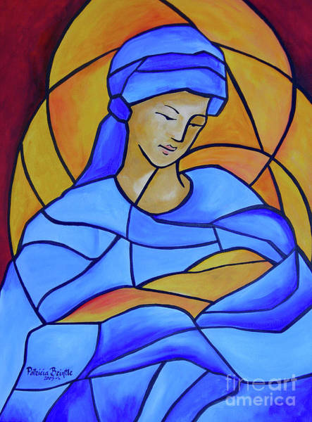 Wall Art - Painting - Maria Full Of Grace by Patricia Brintle