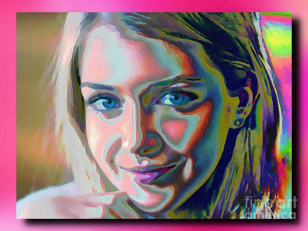 Wall Art - Mixed Media - Maria by George Art