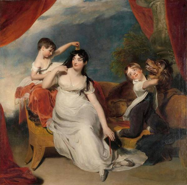 Hair Of The Dog Wall Art - Painting - Maria Mathilda Bingham With Two Of Her Children. Maria Mathilda Bingham, Echtgenote Van Henry Bar... by Thomas Lawrence