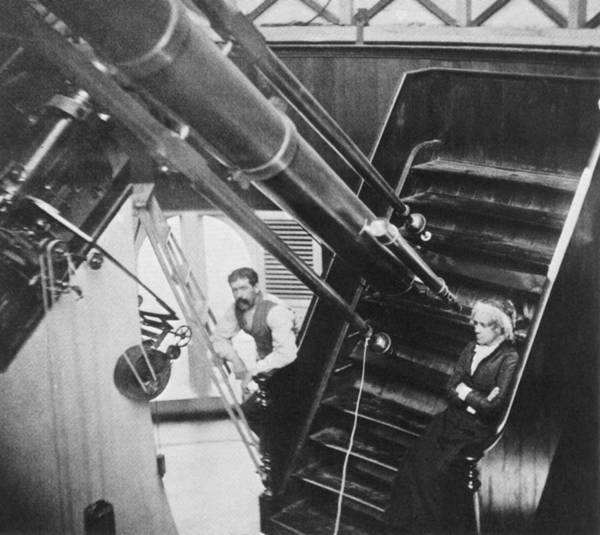 Photograph - Maria Mitchell With Telescope by Science Source