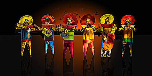 Photograph - Mariachis by Paul Wear