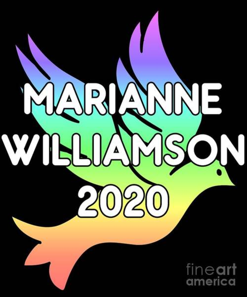 Digital Art - Marianne Williamson For President 2020 Rainbow Dove by Flippin Sweet Gear
