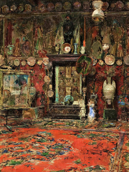 Wall Art - Painting - Mariano Fortuny's Studio In Rome - Digital Remastered Edition by Mariano Fortuny