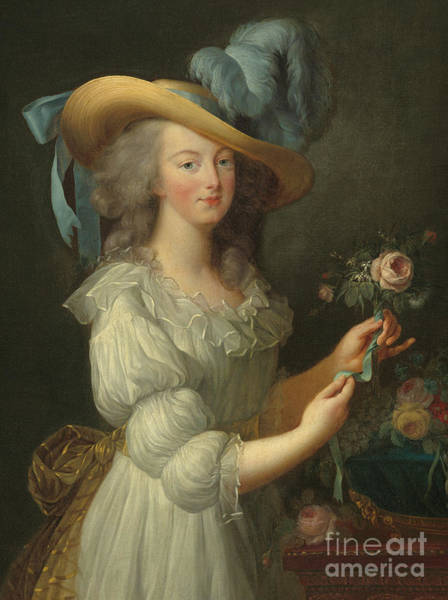 Wall Art - Painting - Marie-antoinette, After 1783  by Elisabeth Louise Vigee-Lebrun