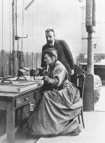 Wife Photograph - Marie S. Curiepierre Curie & Wife by Time Life Pictures