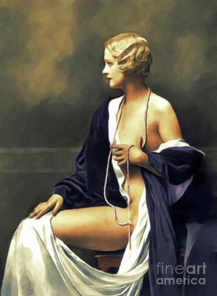 Steven Painting - Marie Stevens, Vintage Actress by John Springfield