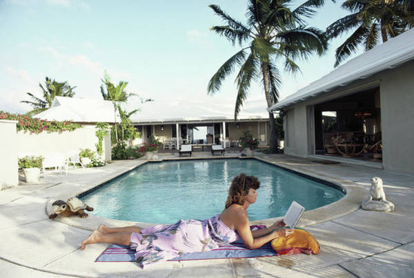 Eleuthera Island Photograph - Marilee Mcneilus by Slim Aarons