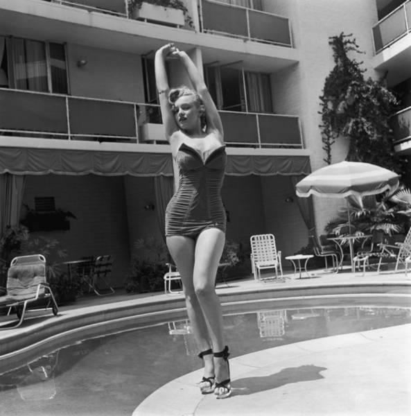 Marilyn By The Pool Art Print