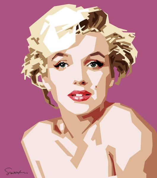 Wall Art - Digital Art - Marilyn by Douglas Simonson
