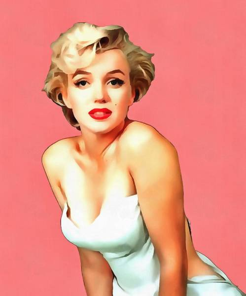 Wall Art - Painting - Marilyn by Harry Warrick