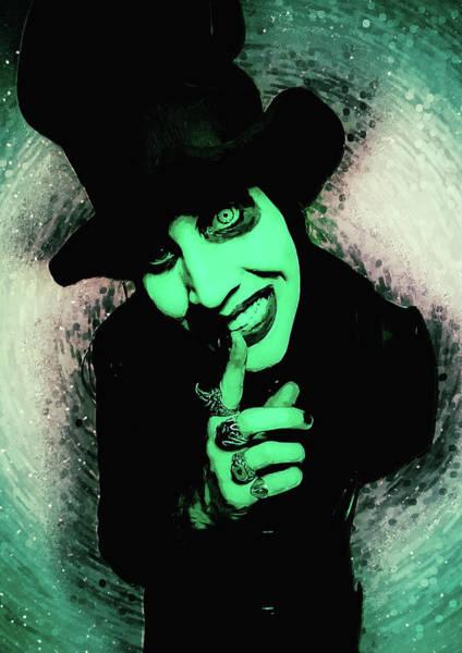 Punk Rock Digital Art - Marilyn Manson by Zapista Zapista