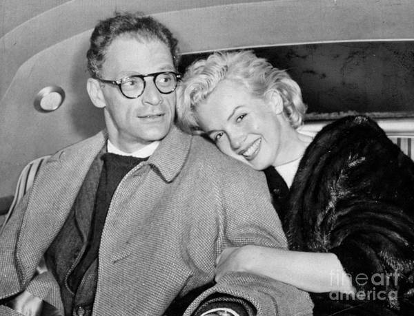 Jamaica Photograph - Marilyn Monroe And Husband Arthur by New York Daily News Archive