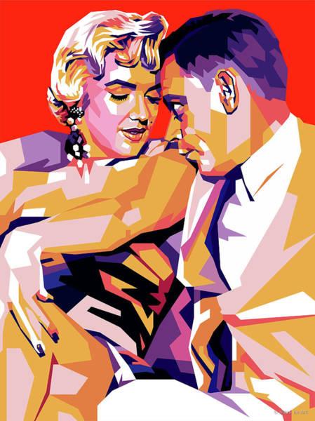 Wall Art - Digital Art - Marilyn Monroe And Tom Ewell by Stars on Art