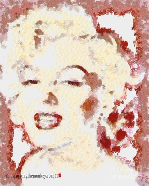 Painting - Marilyn Monroe Dot To Dot by Catherine Lott