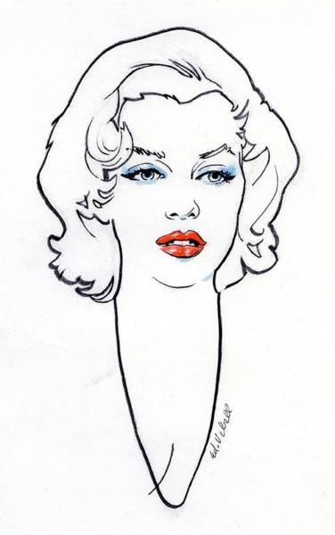 Headshot Photograph - Marilyn Monroe by Ed Vebell
