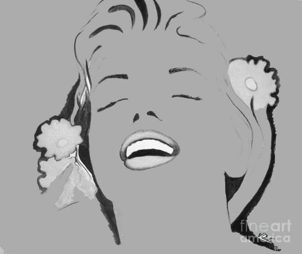 Wall Art - Painting - Marilyn Monroe - In Grey  by Vesna Antic