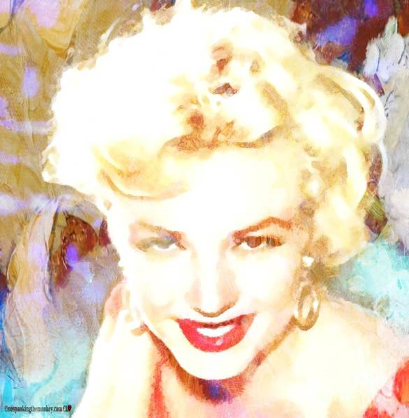 Painting - Marilyn Monroe In Monkey Bizness 1 by Catherine Lott