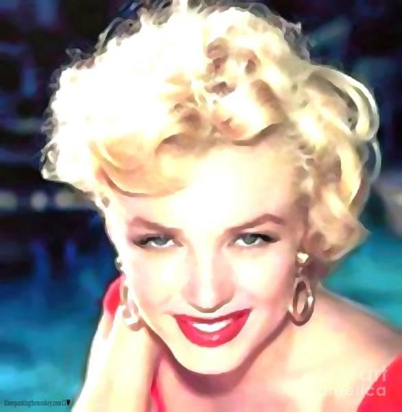 Painting - Marilyn Monroe In Monkey Bizness  by Catherine Lott