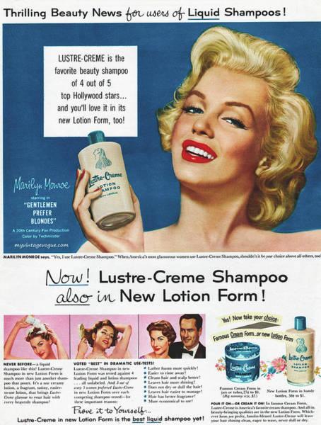 Wall Art - Photograph - Marilyn Monroe In Shampoo Advertisement - 1953 by Mountain Dreams