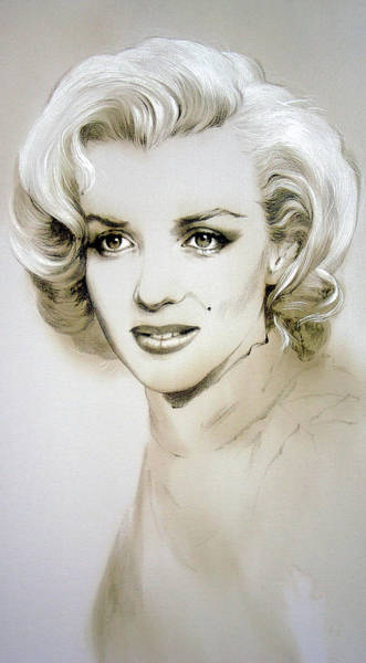 Painting - Marilyn Monroe. Mystery In Her Eyes by Alina Oseeva