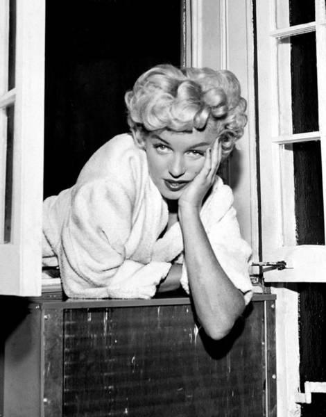 Marilyn Monroe Photograph - Marilyn Monroe On Set Of The Seven Year by New York Daily News Archive
