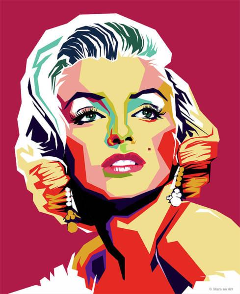 Wall Art - Digital Art - Marilyn Monroe by Stars on Art