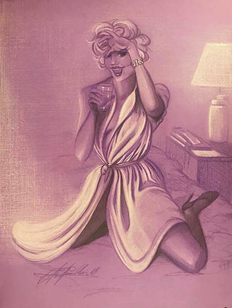 Sfumato Drawing - Marilyn by Richard Remblier