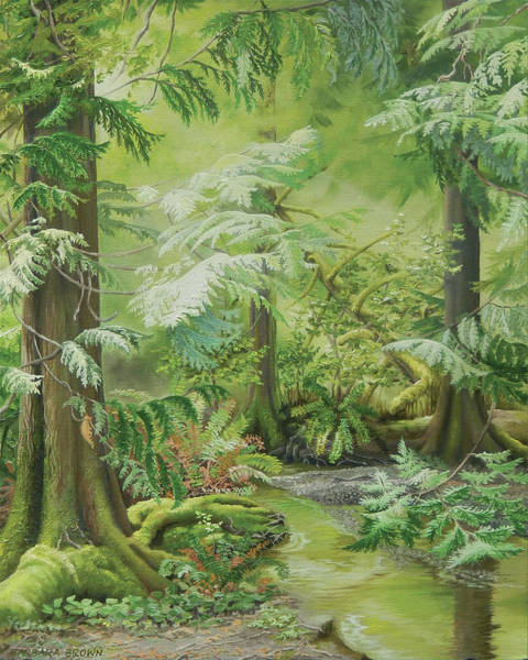 Wall Art - Painting - Marilyn's Forest by Barbara Brown
