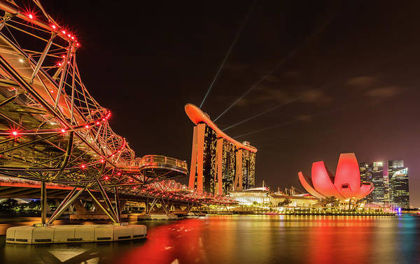 Photograph - Marina Bay Sands by Chris Cousins