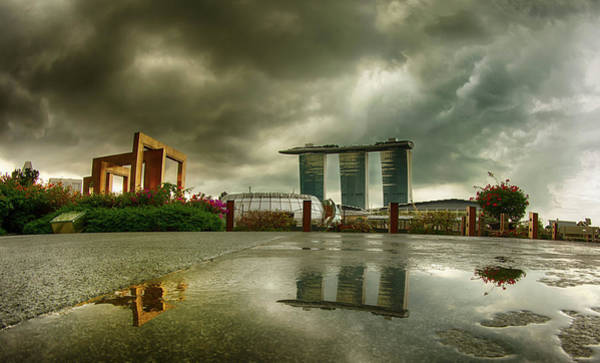 Photograph - Marina Bay Sands Hotel by Chris Cousins