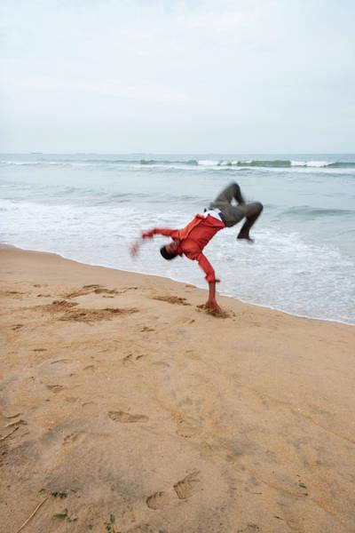 Nature Wall Art - Photograph - Marina Beach Somersault by Iordanis Pallikaras
