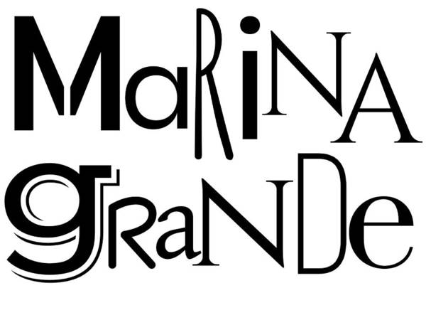 Photograph - Marina Grande Wordart Two by Alice Gipson