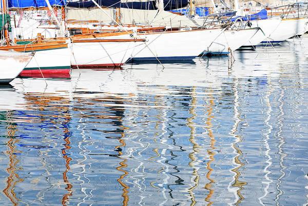 Luxury Yacht Photograph - Marina Reflections by Georgeclerk