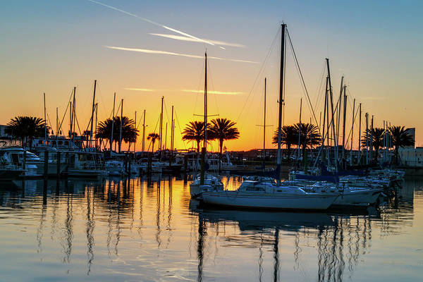 Photograph - Marina Sunrise-1 by John Zawacki