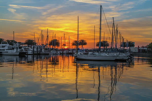 Photograph - Marina Sunrise-2 by John Zawacki