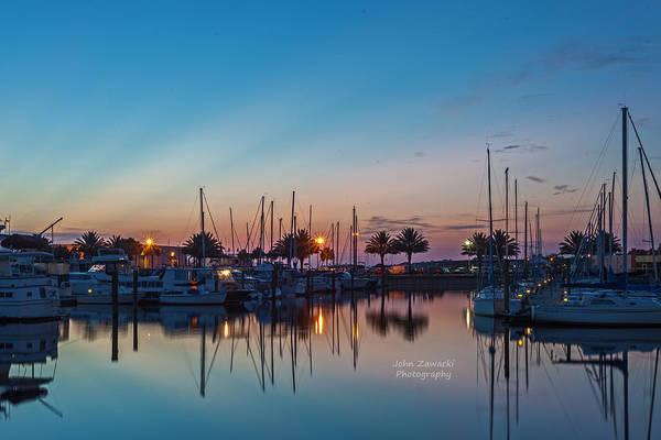 Photograph - Marina Sunrise-4 by John Zawacki
