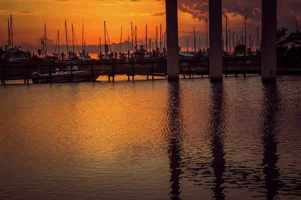 Wall Art - Photograph - Marina Sunset by Tom Weisbrook