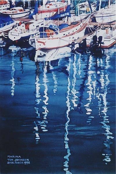 Painting - Marina by Tim Johnson