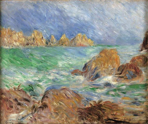 Painting - Marine, Guernsey, By Pierre-auguste by Mondadori Portfolio