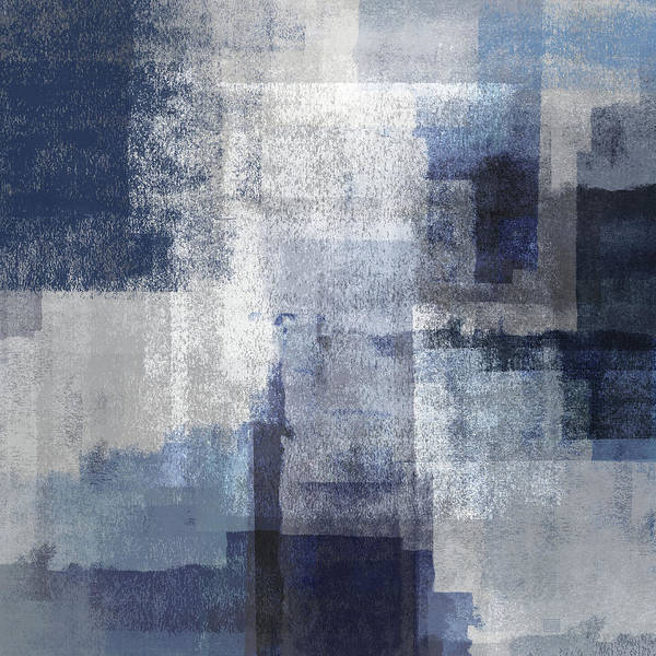 Digital Art - Marine On Gray Abstract by Menega Sabidussi